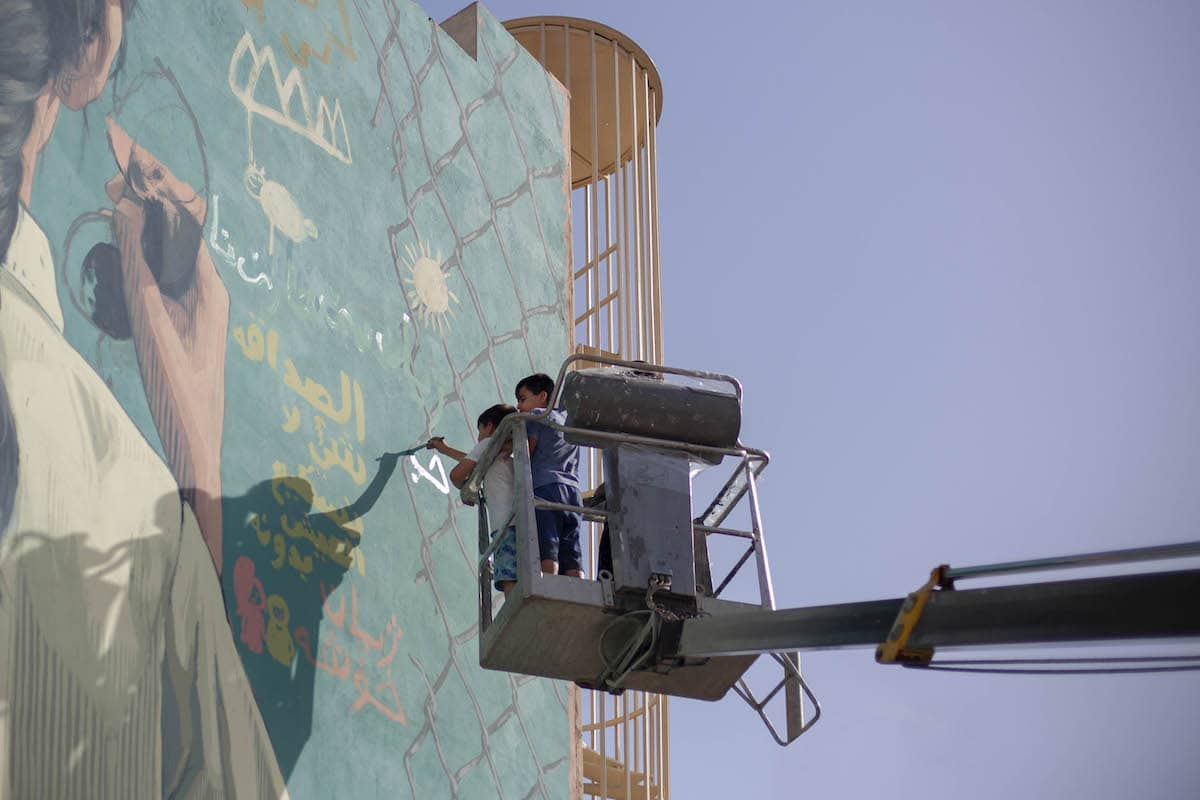 Opening Lines Mural Project in Maine and Iraq