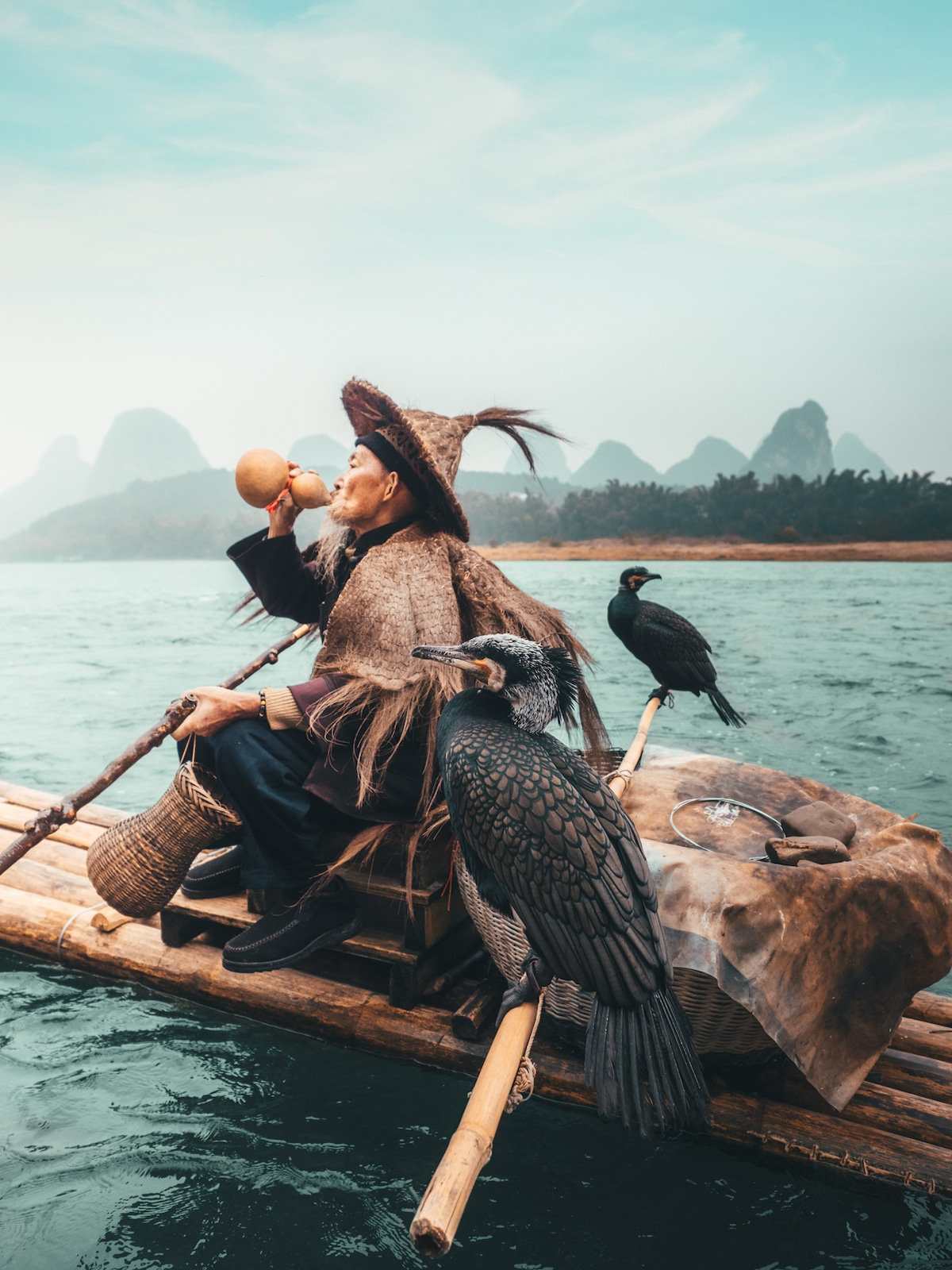 Cormorant fishing by Peter Yan Travel Photography