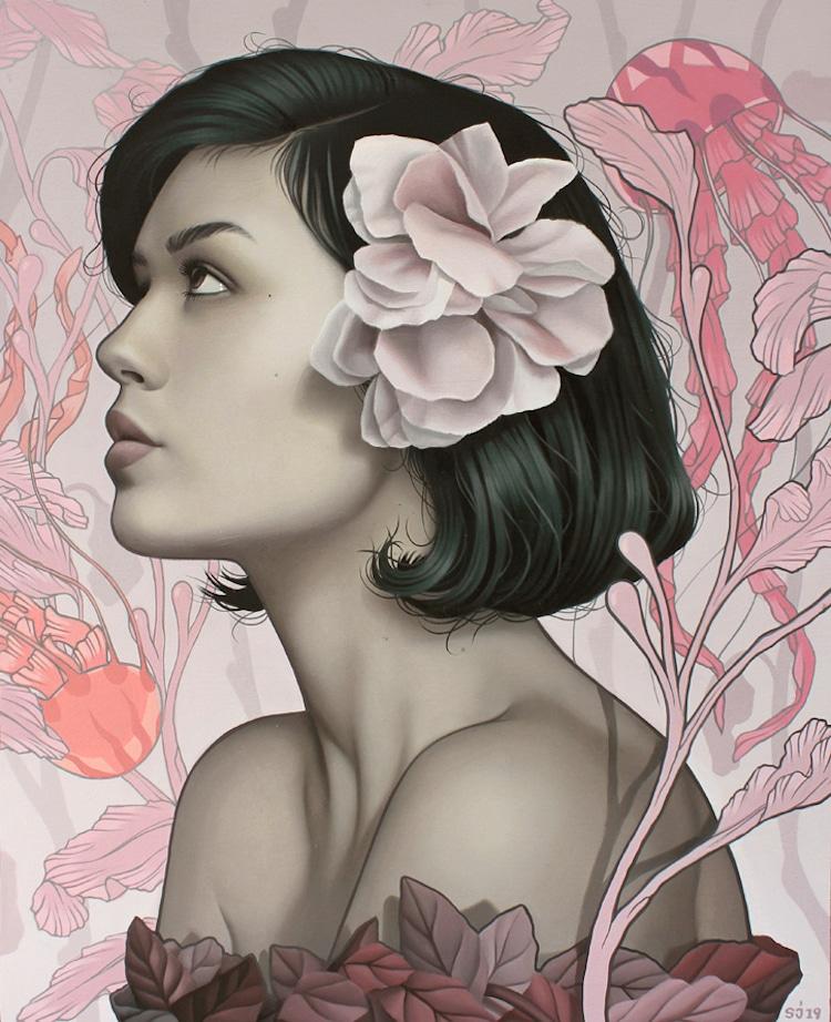 Surrealist Painting by Sarah Joncas