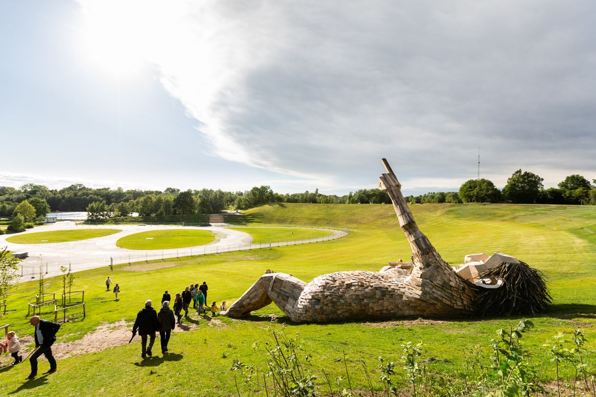 Seven Trolls Outdoor Sculptures by Thomas Dambo