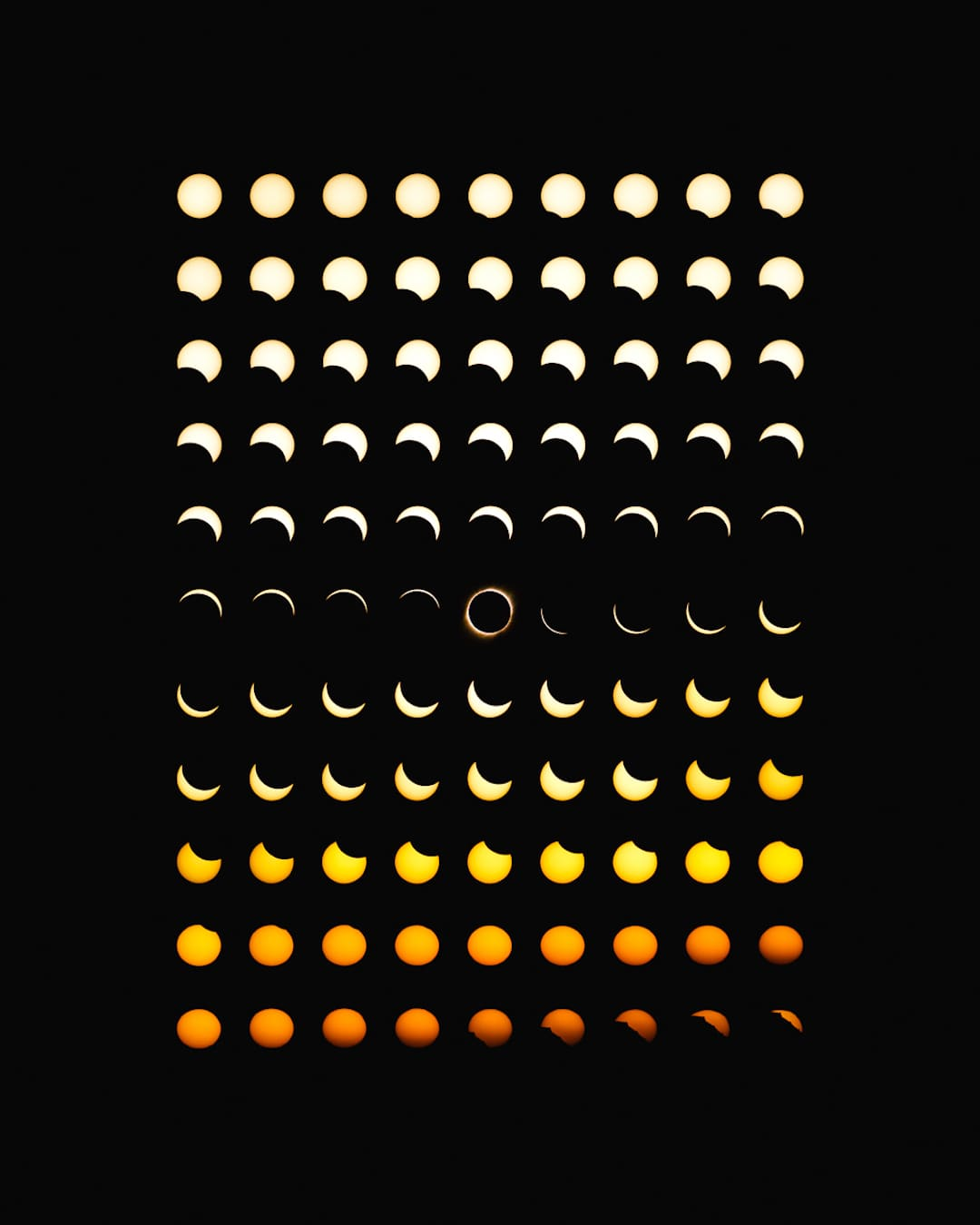 Solar Eclipse Photo Composites by Dan Marker-Moore