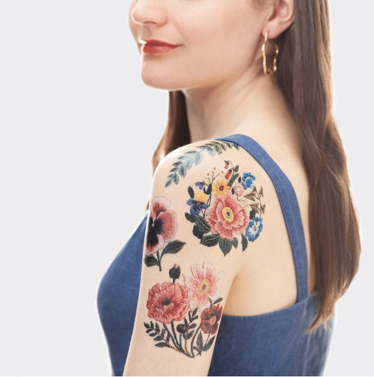 Embroidery Temporary Tattoos