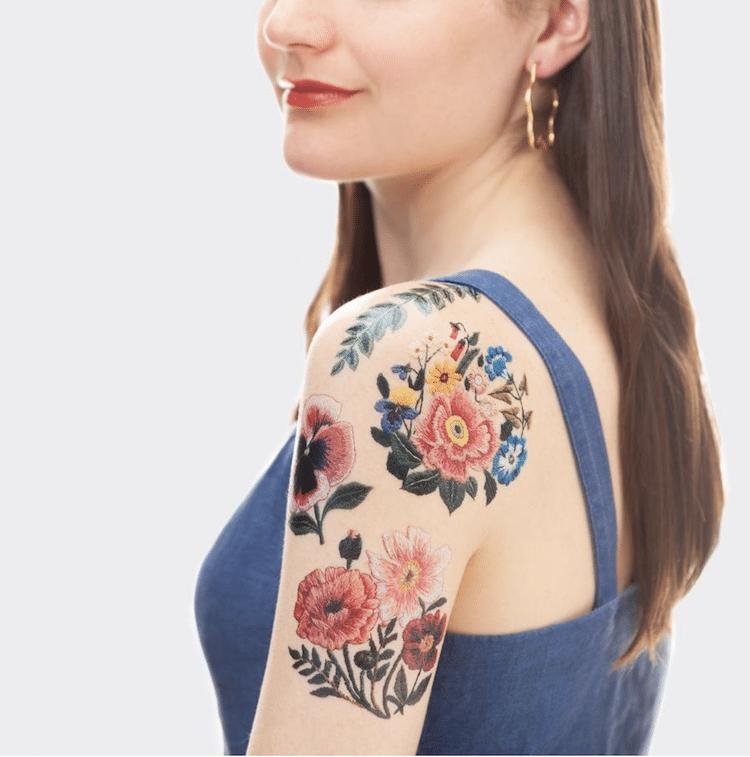Tatuajes temporales bordados