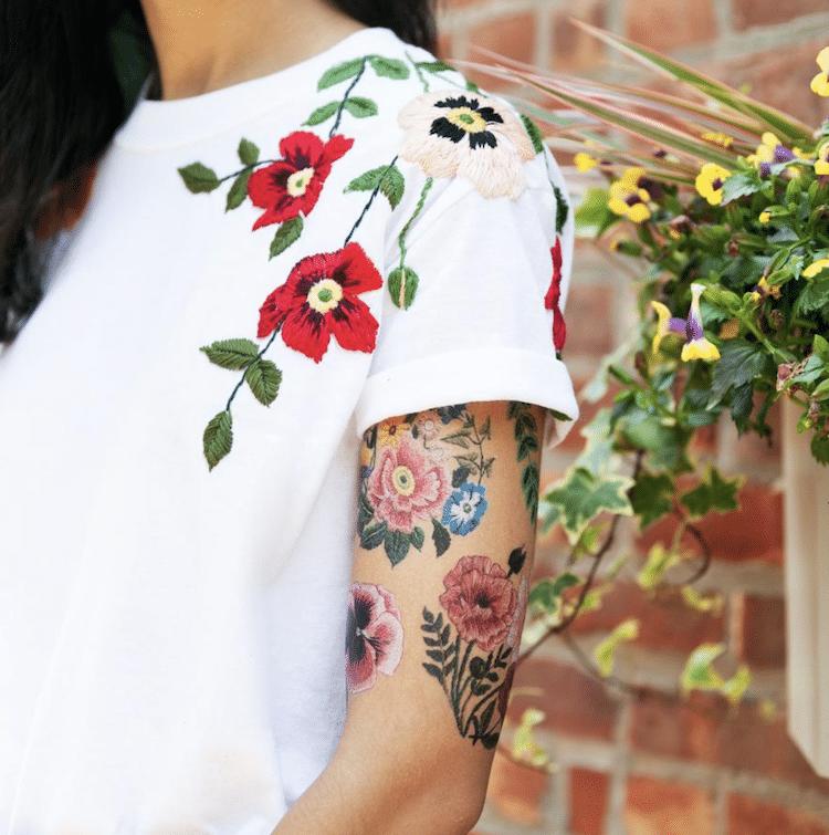 tatuajes temporales de flores