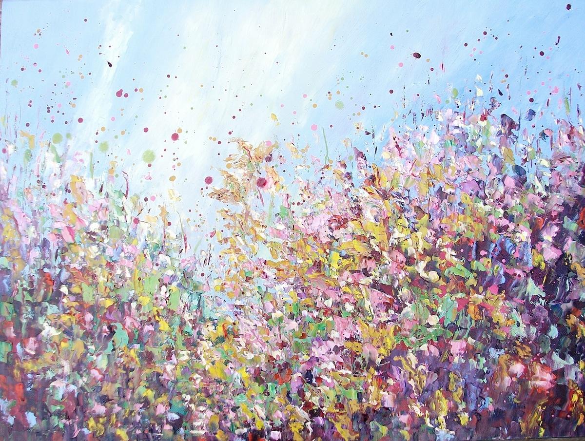 Pinturas al óleo de flores por Therese O'Keeffe