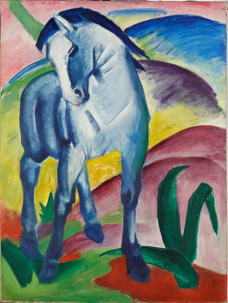 Caballo azul de Marc Franz