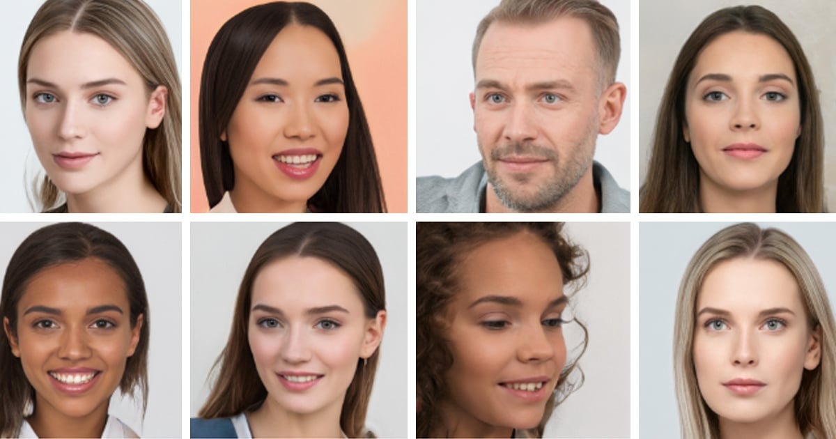 Browse 100,000 AI Generated Faces That Are Free to Use