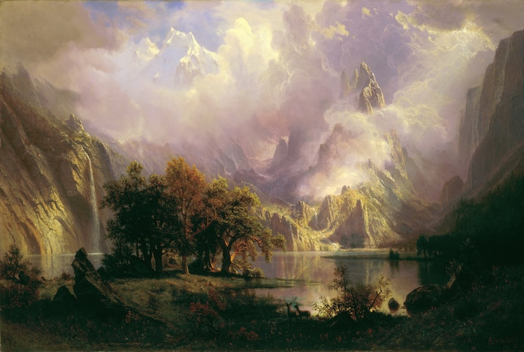 View of the Rocky Mountains by Albert Bierstadt