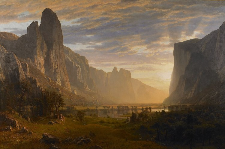 Albert Bierstadt Painting of Yosemite