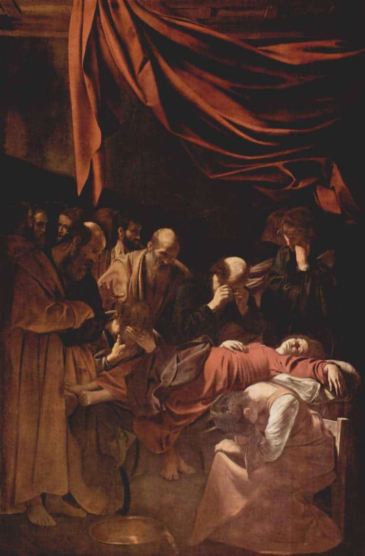 Pintura de Caravaggio en el Louvre