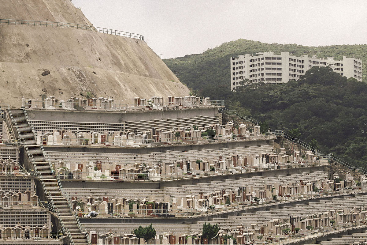 Chai Wan cemetery in Hong Kong