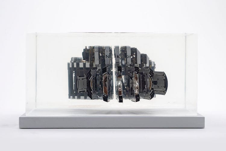 Dissected Camera Sculpture by Fabian Oefner