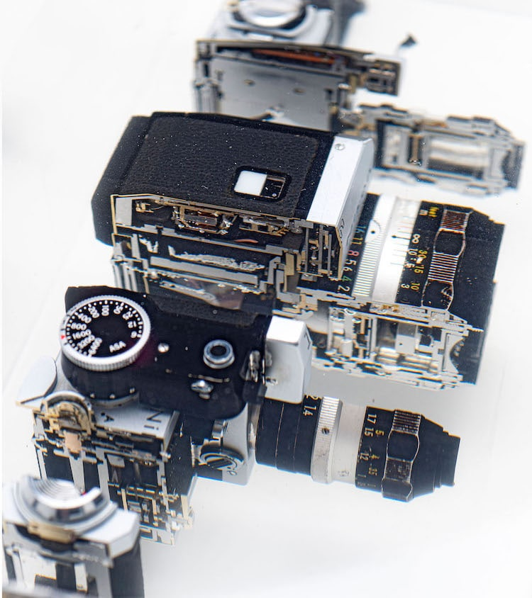 Cut Apart Camera Sculpture by Fabian Oefner
