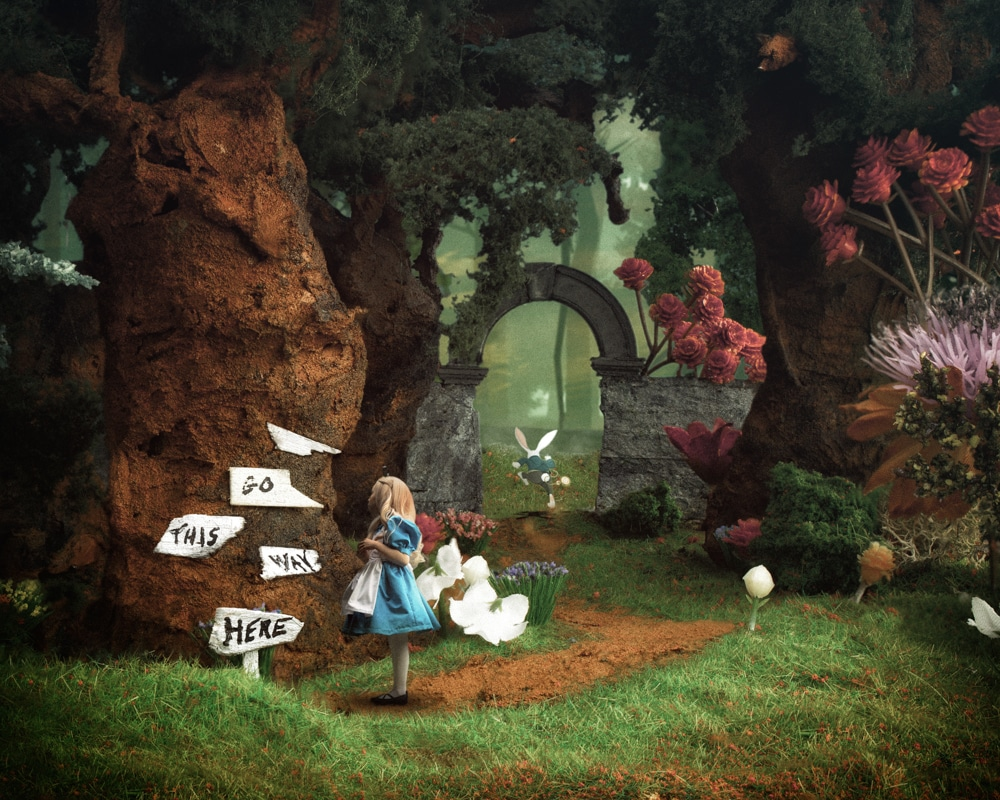 Alice in Wonderland Scale Model Photo Creation by Nick Busch