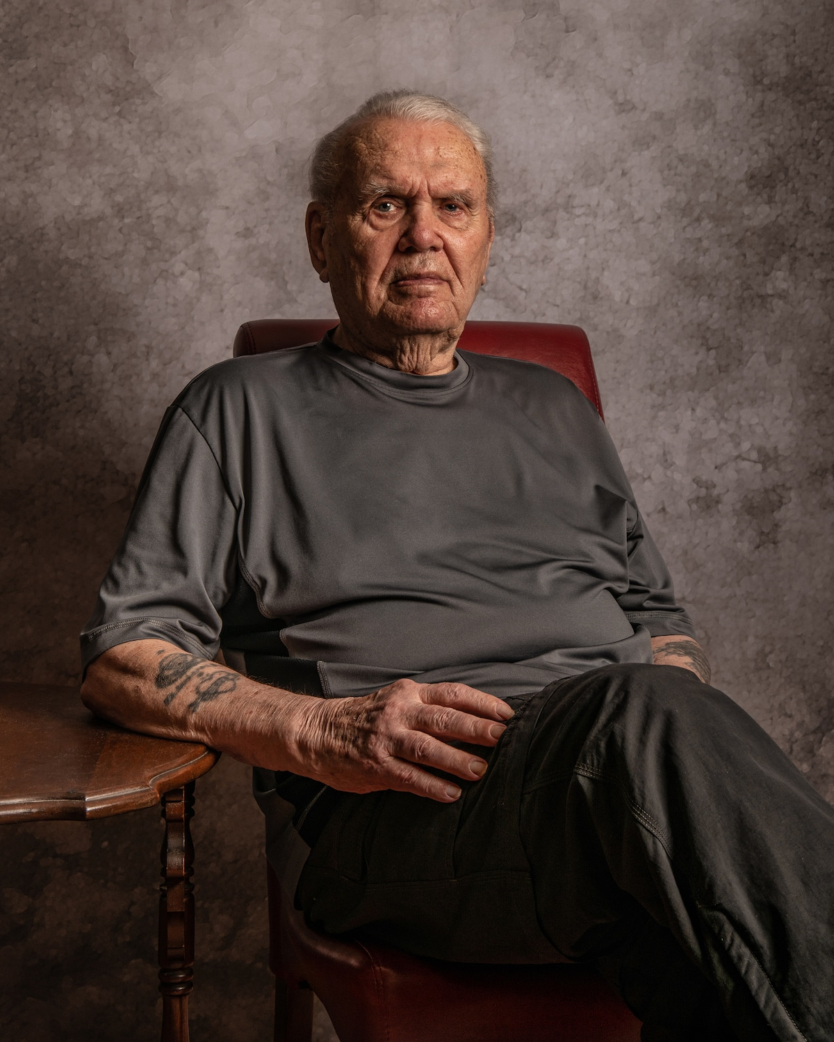Army Veteran Portrait by Jeffrey Rease