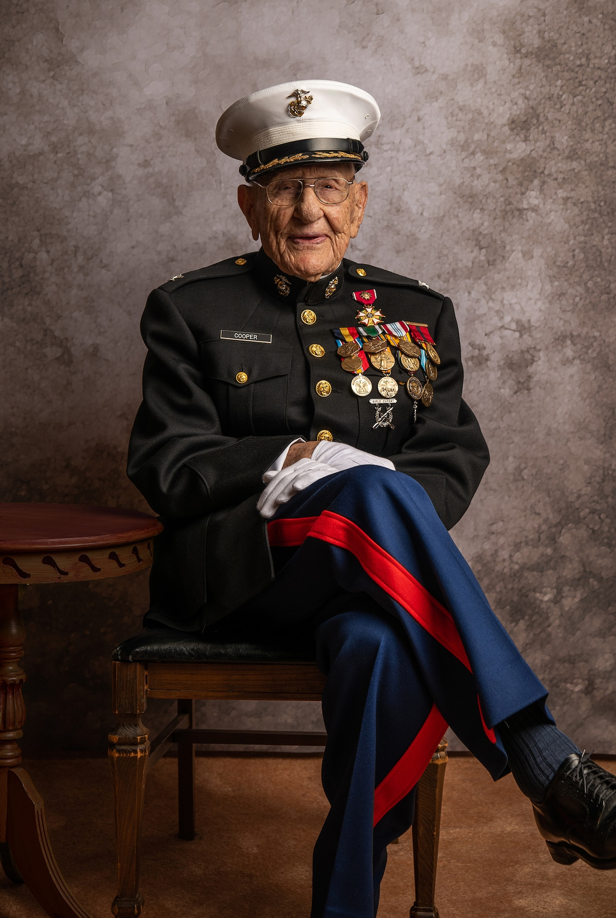 Military Veteran's Portrait by Jeffrey Rease