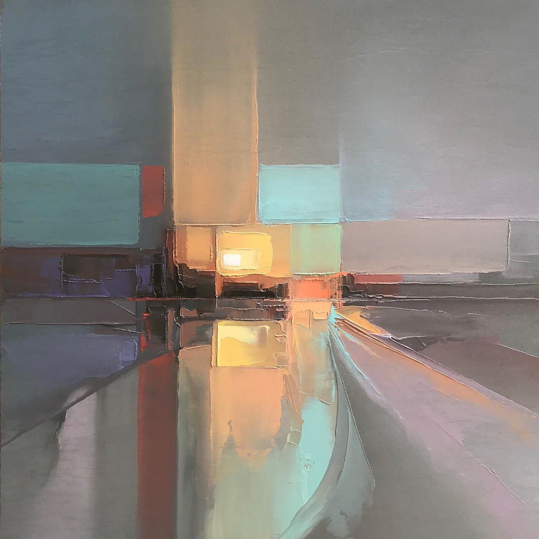 Abstract Landscape Paintings by Jason Anderson