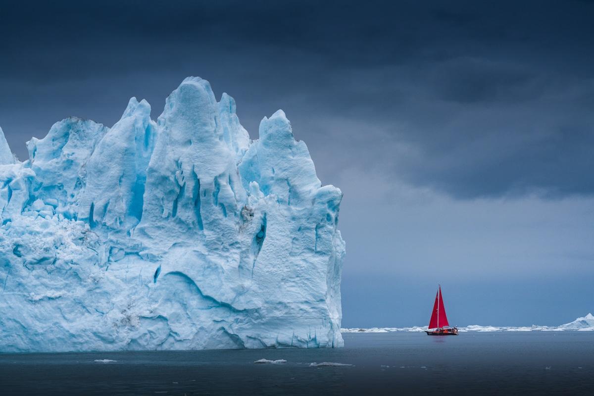 icebergs en Groenlandia por Albert Dros