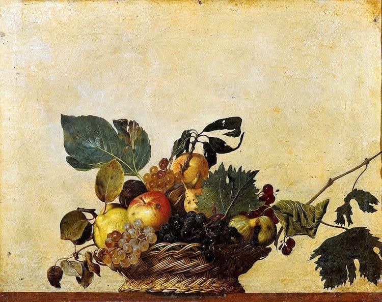 Naturaleza muerta del pintor barroco Caravaggio