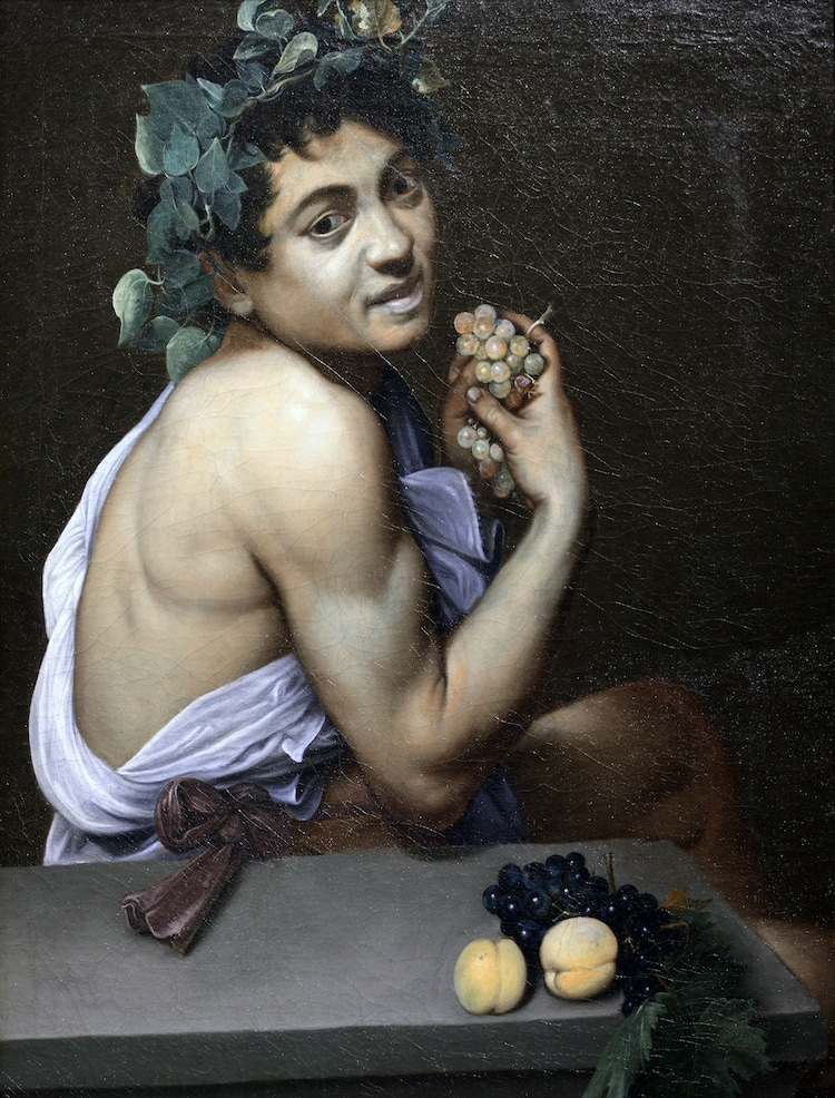 Sick Bacchus - Caravaggio Self Portrait