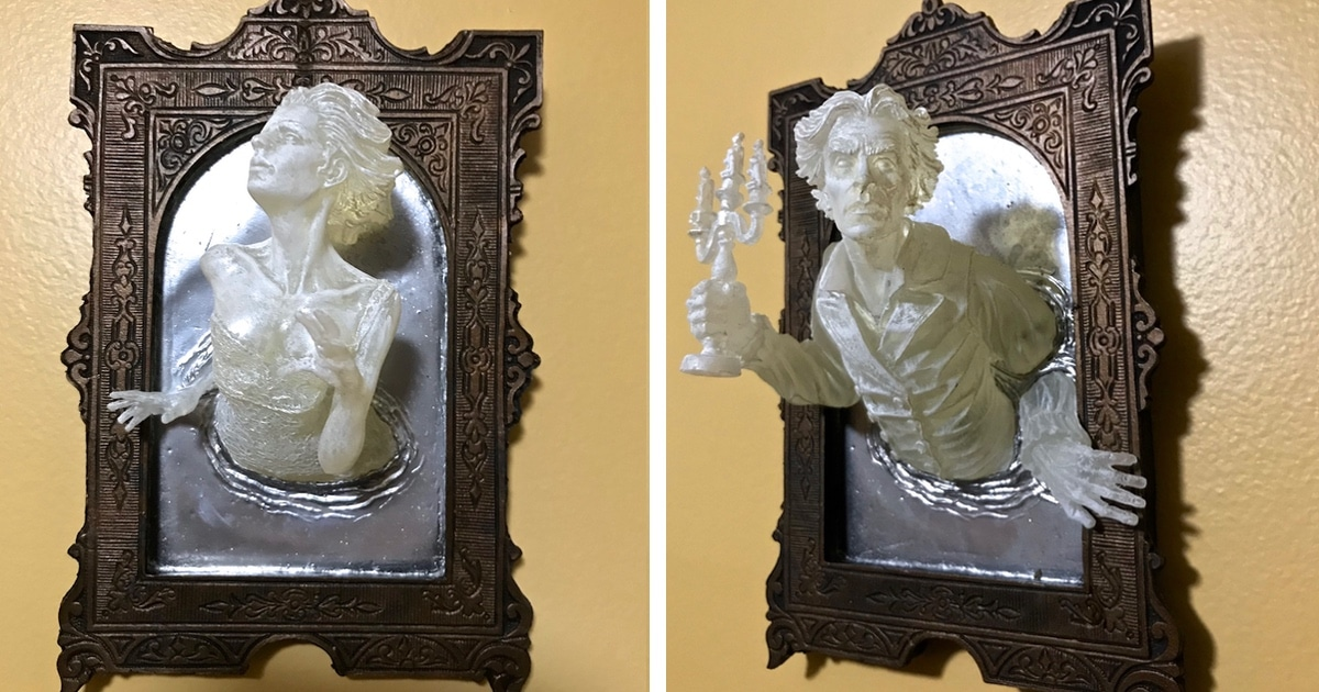 Macabre Sculptures of Ghosts Emerging from Mirrors