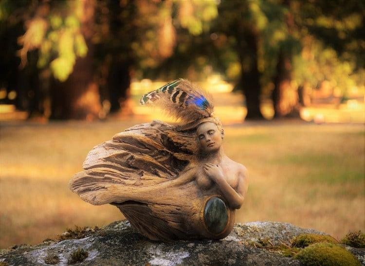 Esculturas de madera por Debra Bernier