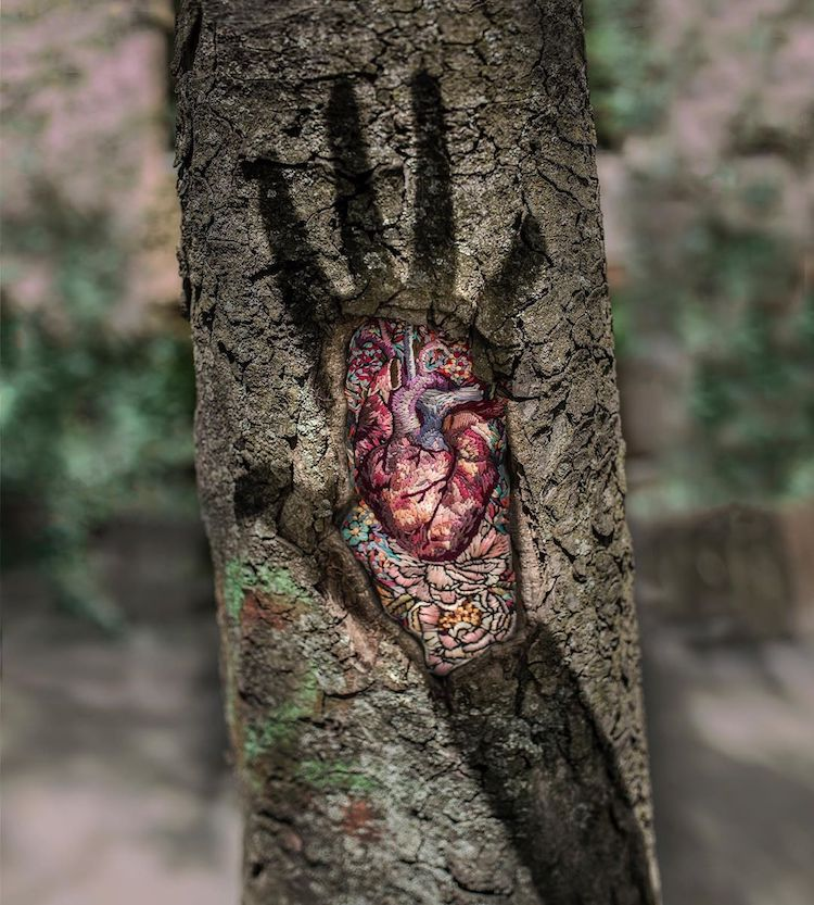 Tree Embroidery by Diana Yevtukh
