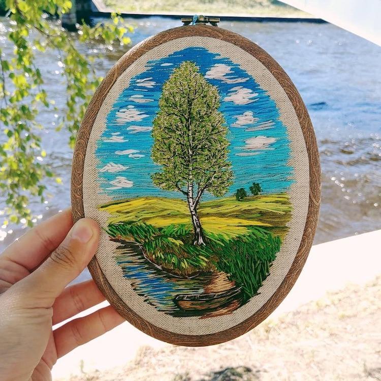 arte bordado por Nadia Garutt