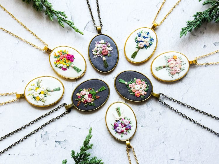 Embroidery Jewelry by Thursday CraftLove