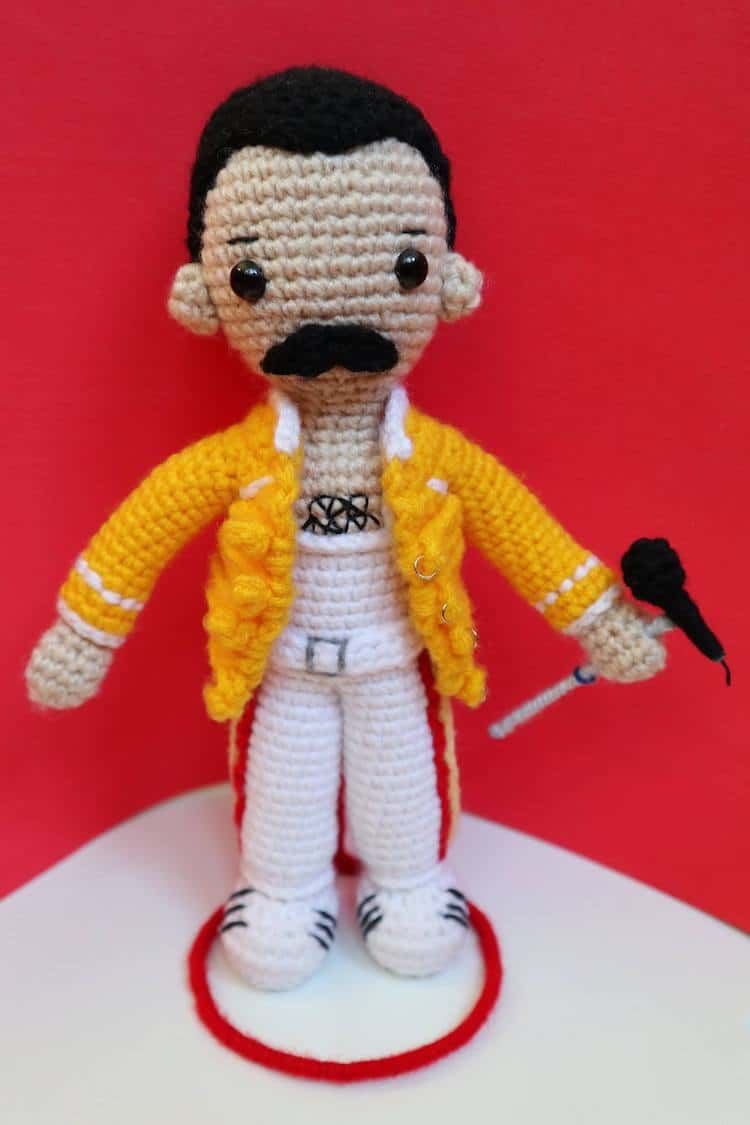 Craft A Crochet Freddie Mercury Doll With This Free Online