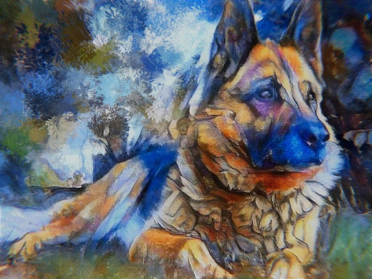 Gifts for Dog Lovers - Dog Painting