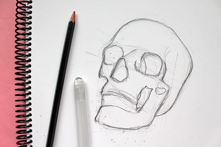 How to Draw a Skull Step by Step