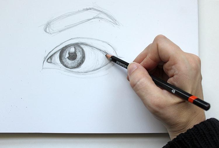 Cómo dibujar ojos a lápiz