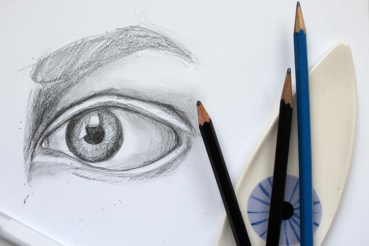 Cómo dibujar un ojo paso a paso