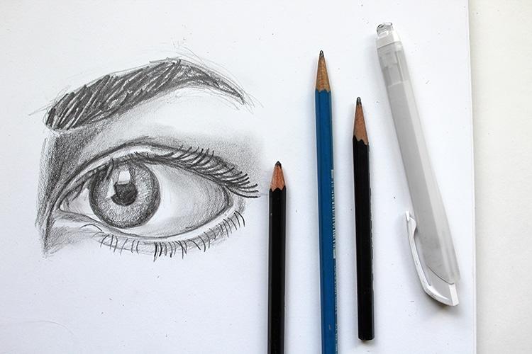 Cómo dibujar ojos paso a paso