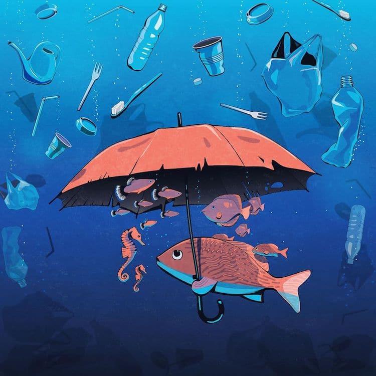 ilustraciones de contaminación por Steffen Kraft ICONEO