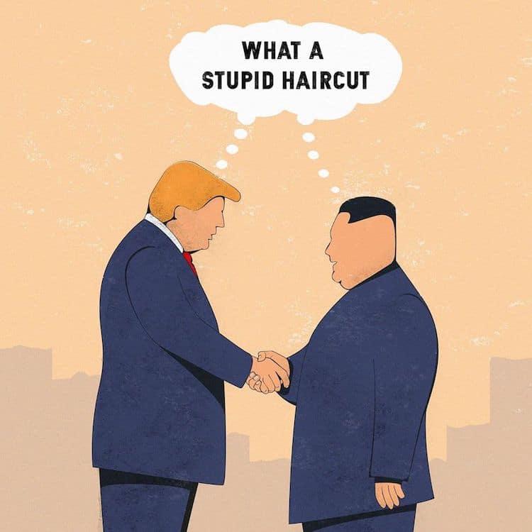 ilustraciones políticas por Steffen Kraft ICONEO