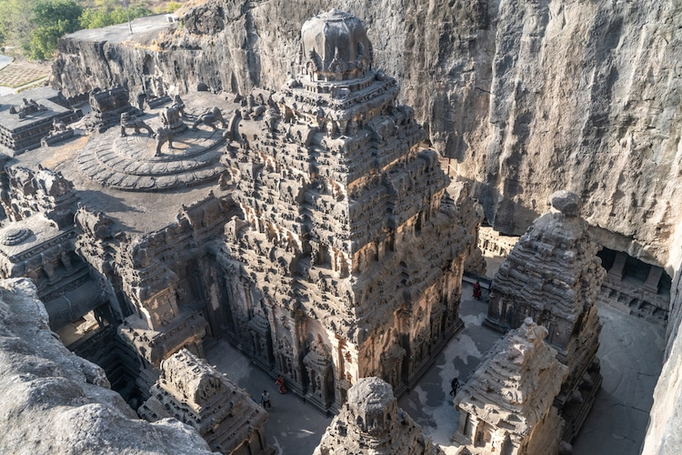 Kailasa Temple at the Ellora Caves in India