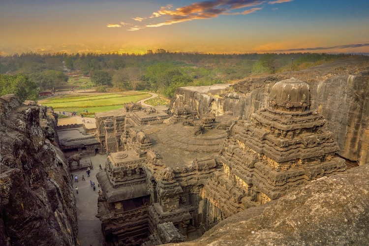 8th Century Temple, Kailasa Temple, Kailasa, Temple, Ellora Caves, India, rock, stone, cave temple, top destination, holiday, trip, structure, carved from one rock, Maharashtra, Rachtrakuta king Krishna,mammoth temple, legend, 200,000 tons of volcanic rock, Shiva, hindu
