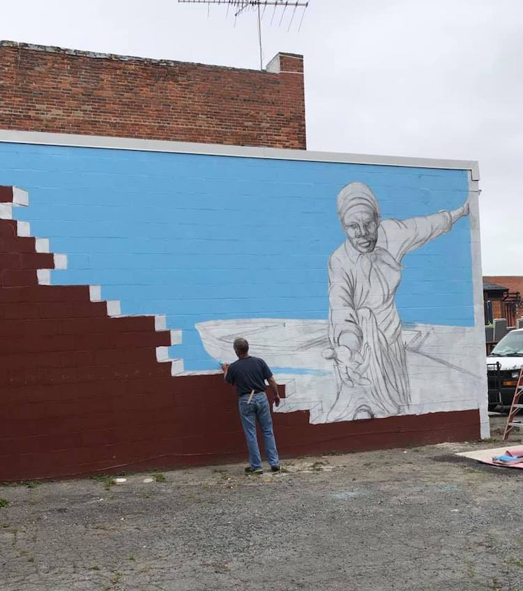 Mural de Harriet Tubman en Maryland