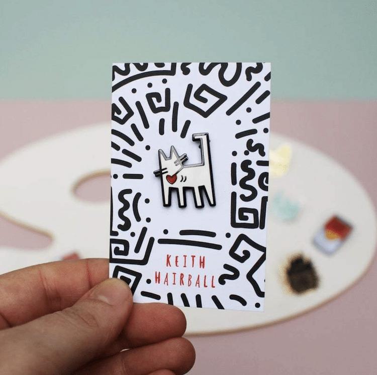Keith Haring Cat Pin