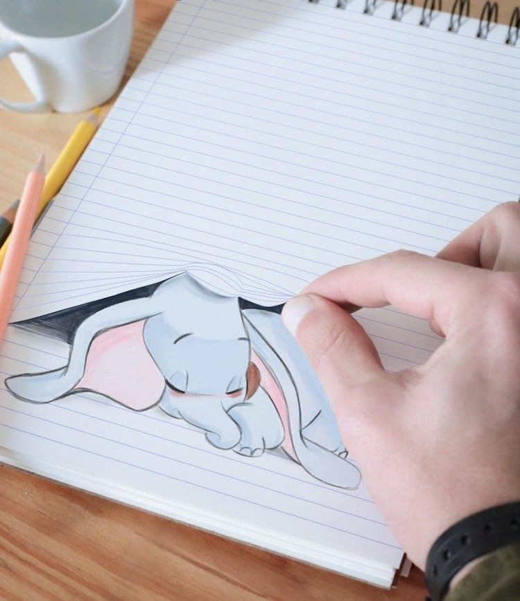 Optical Illusion Drawings by Luigi Kemo Volo