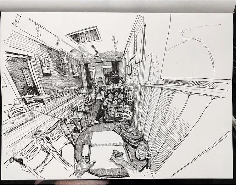 Pen Drawings by Paul Heaston