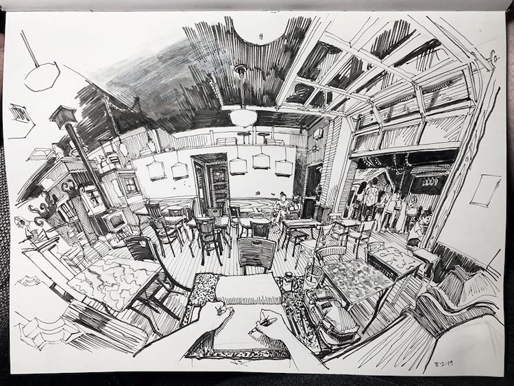 Perspective Drawings by Paul Heaston