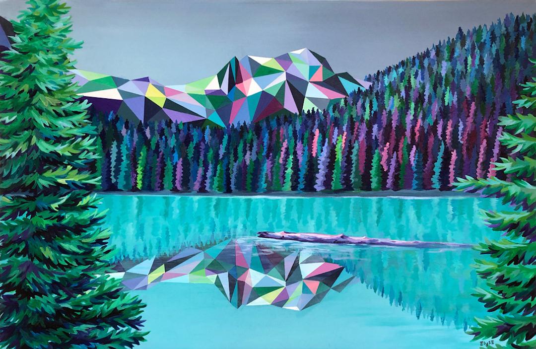 Pintura geométrica por Elyse Dodge