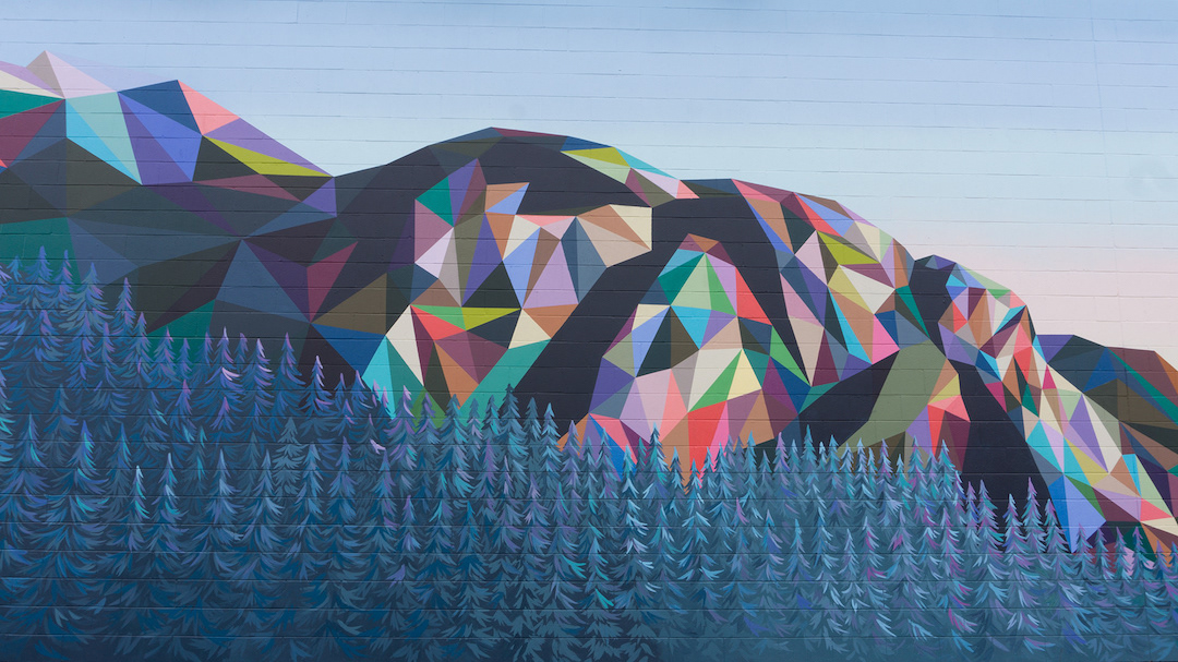 Polygon Art Landscape Paintings by Elyse Dodge