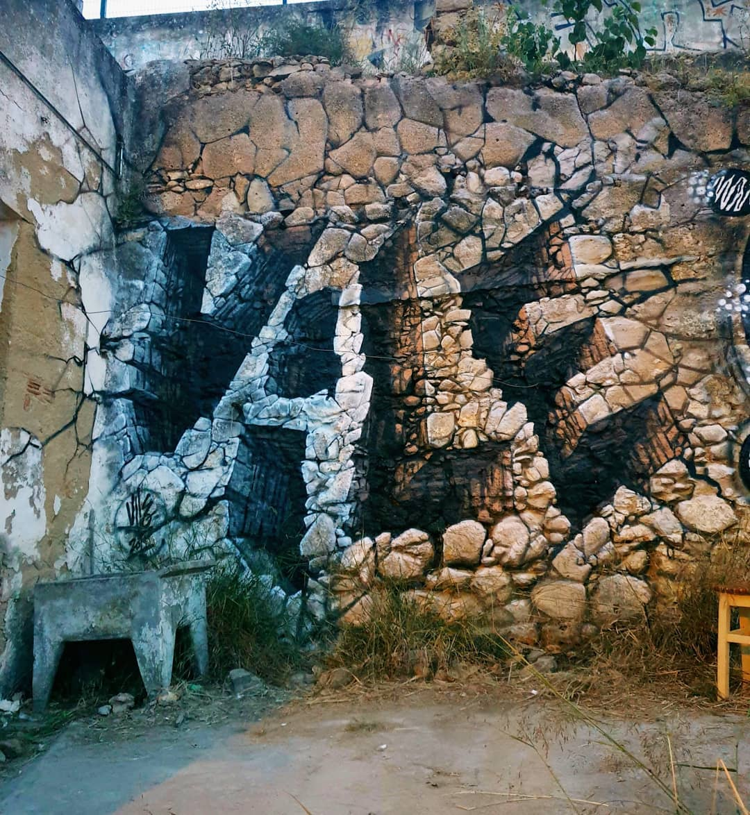 Vile Graffiti Optical Illusion