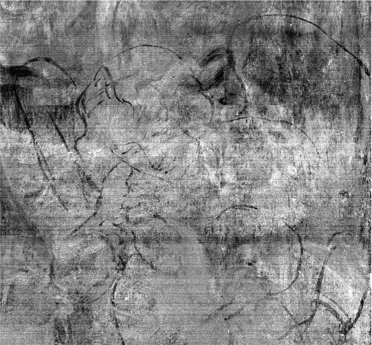 dibujo oculto en pintura de leonardo da vinci