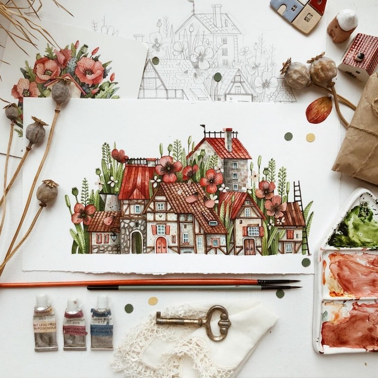 Watercolor Illustrations by Tonia Tkach