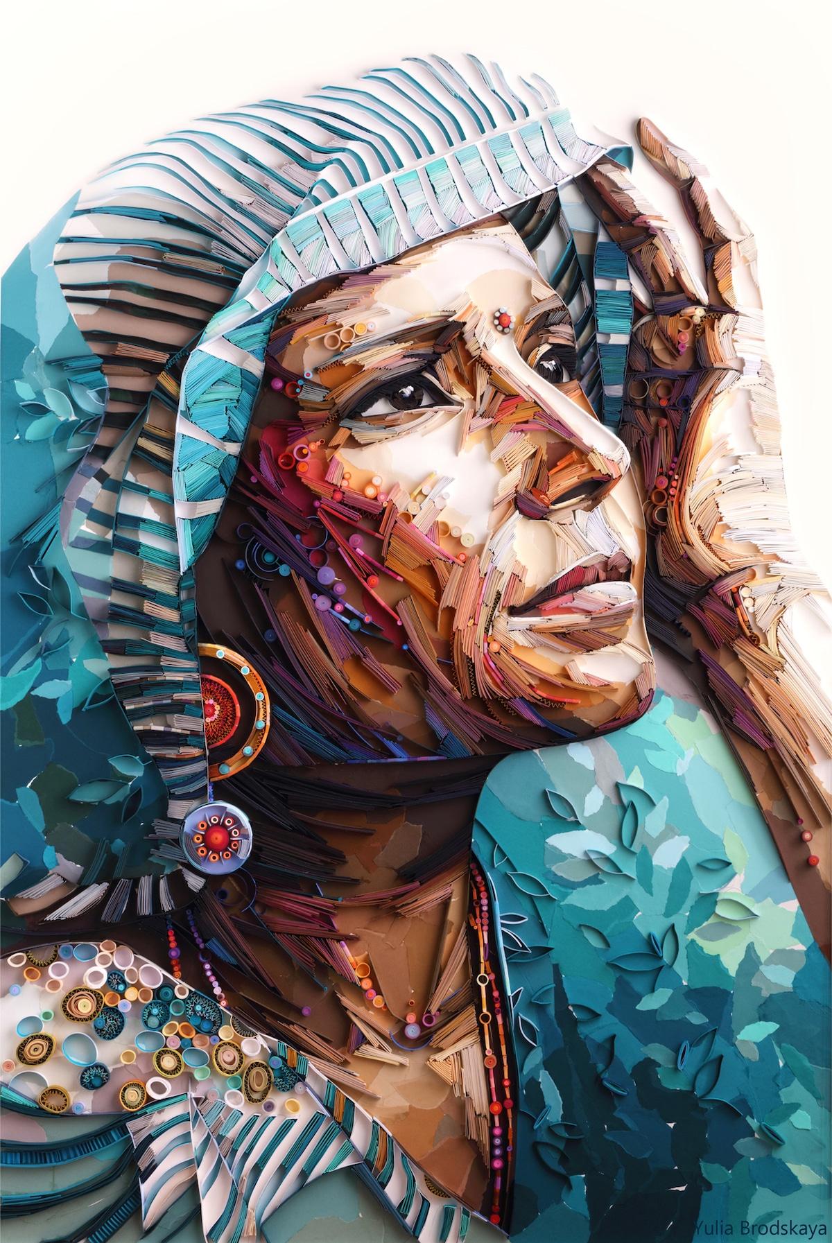 arte con papel por Yulia Brodskaya
